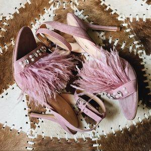 Ivanka Trump Ostrich Feather Shoes - Sz 8.5 - NWOT